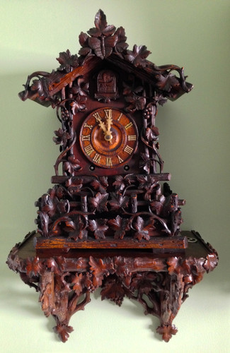 Black Forest Beha 509 cuckoo clock with its extremely rare Beha shelf
