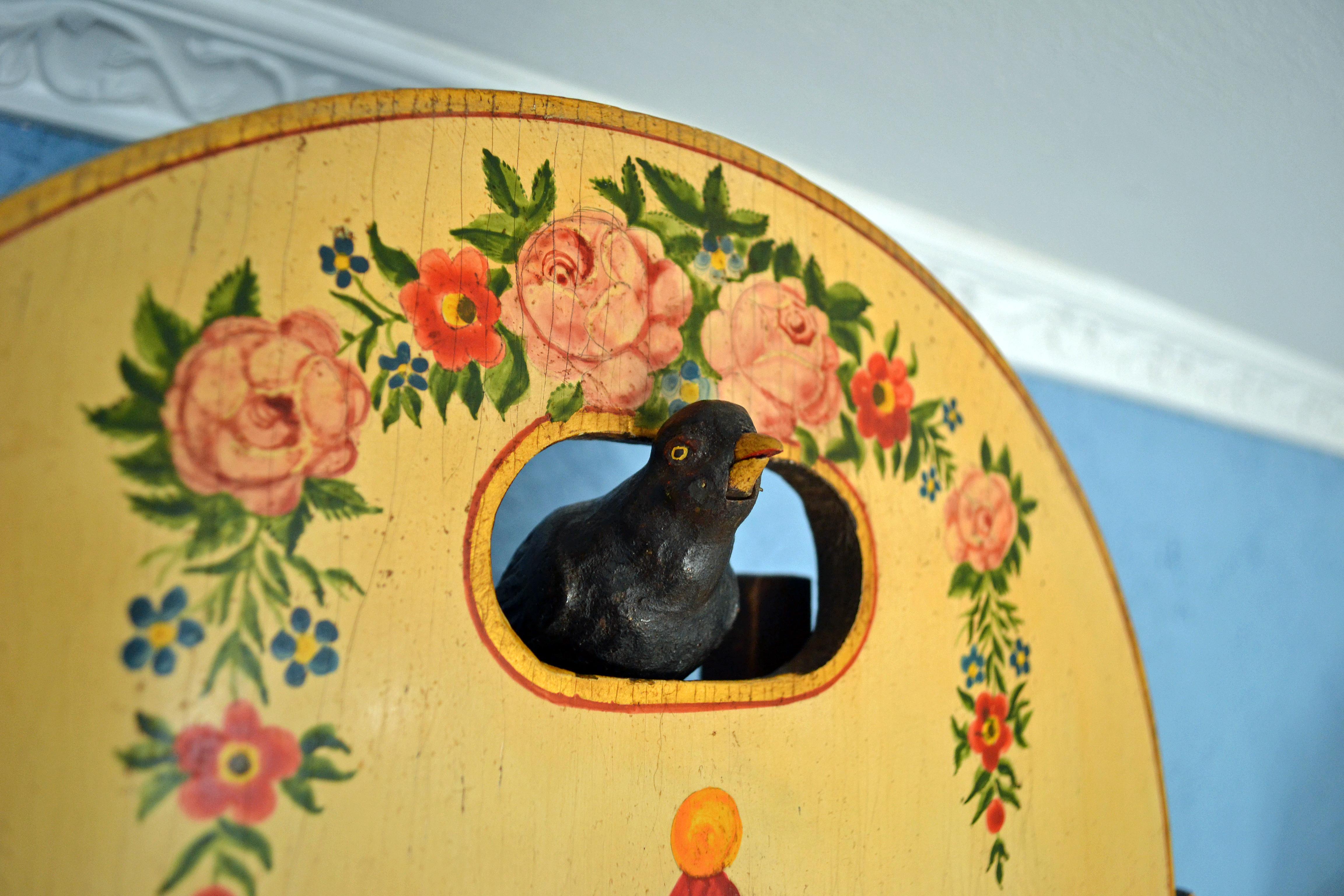 Closeup of Blackbird in Shield