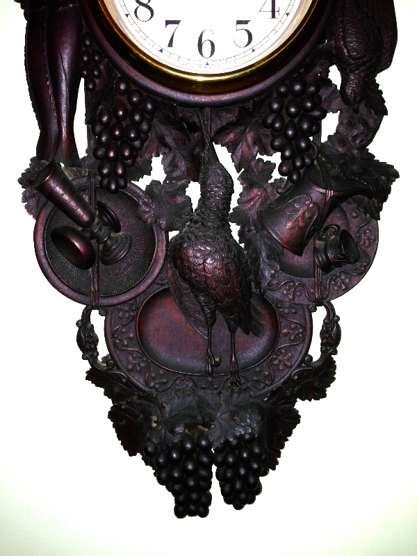 Heavy Carved Black Forest Clock