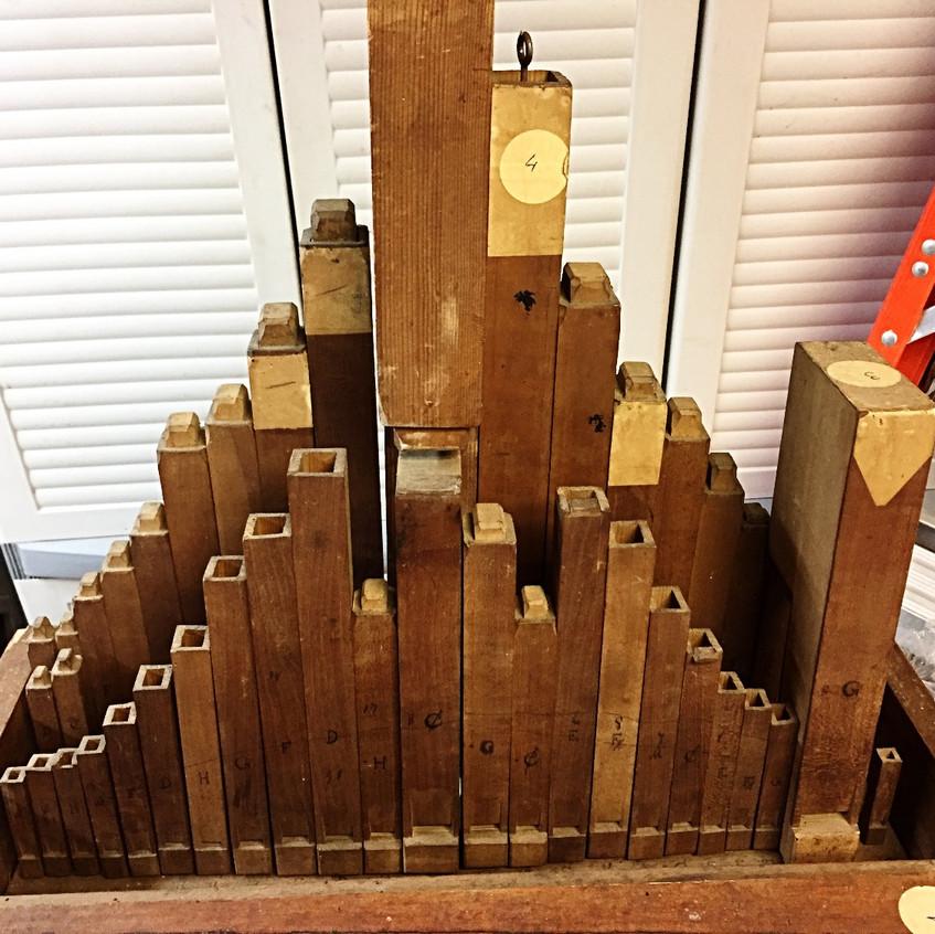 46 pipe organ clock