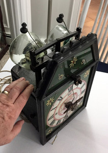 Black Forest Glass Bell Clock front view
