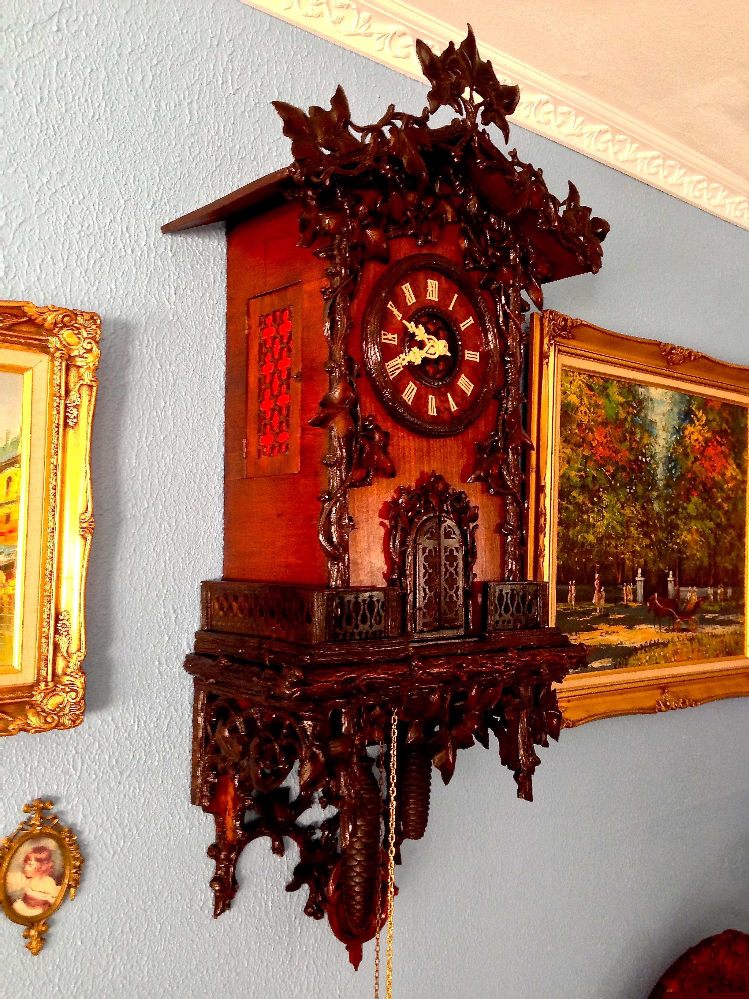 Very Early Wehrle Trumpeter Clock