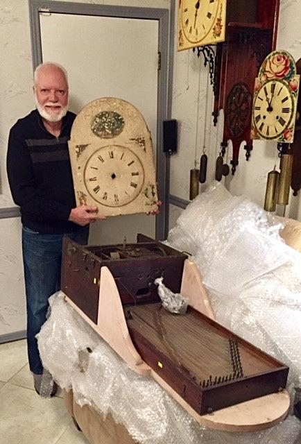 Hackbrettuhren harp clock 8