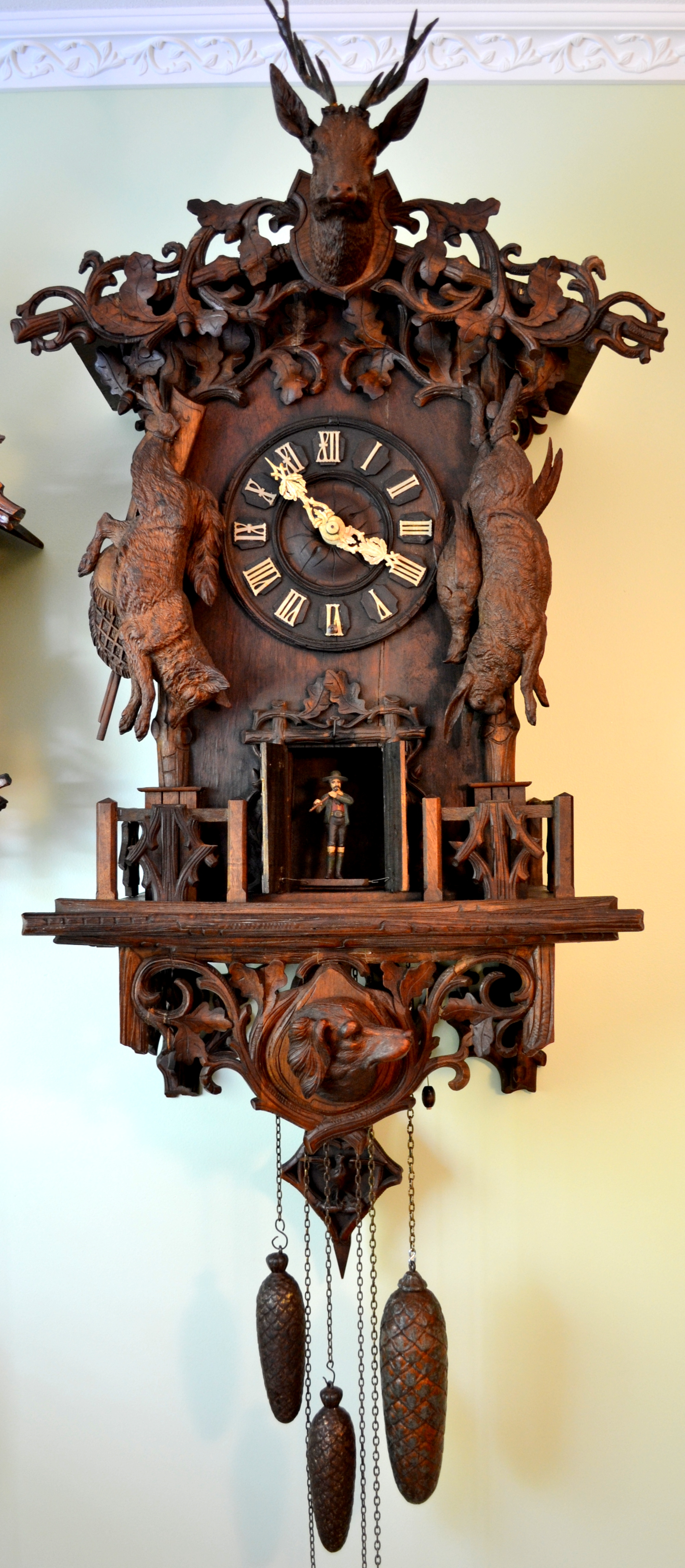 Wehrle eight pipe flute clock