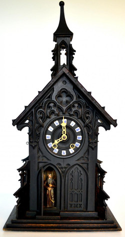 Early Black Forest Monk Clock 1800's