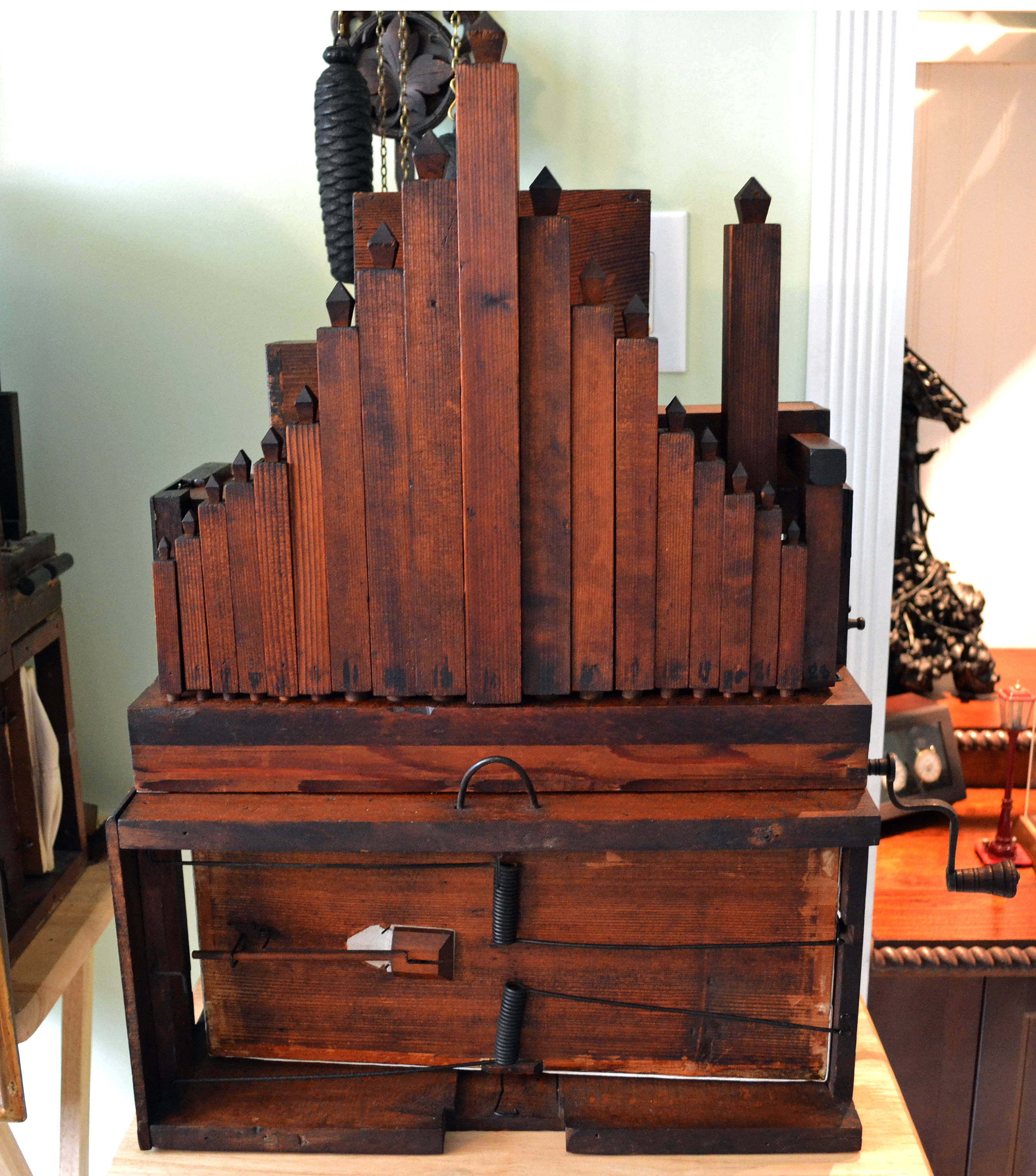 Black Forest Organ Clock 23 pipes