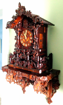 Beha model 509 clock and shelf