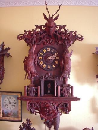 Black Forest Wehrle Flute Clock 1866
