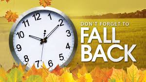 Daylight Saving Time Ends 일광절약시간제 종료 Fall Back/Winter Time