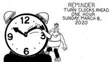 2020년 Daylight Saving Time - Spring Forward