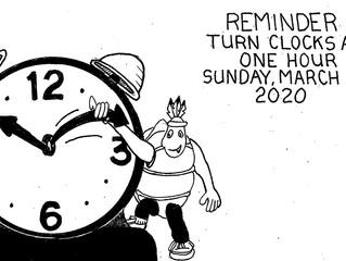 2020년 Daylight Saving Time - Spring Forward