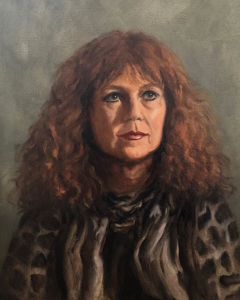 'Judy' from life. Life size Oil on canva