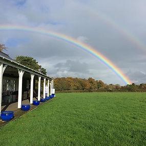 Rainbow 🌈 over our art class _school_of