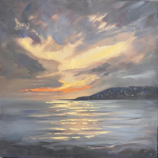 Light on the Water, looking towards Lyme Regis