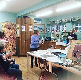 Framing talk! At last months art worksho
