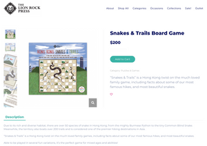 It's here! Snakes and Trails Board game
