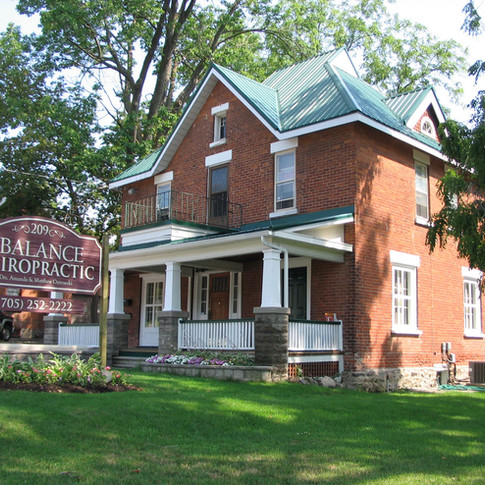 We practice in a newly renovated century home that was originally built in 1873. The office provides a relaxing and comfortable atmosphere which enhances the healing process.