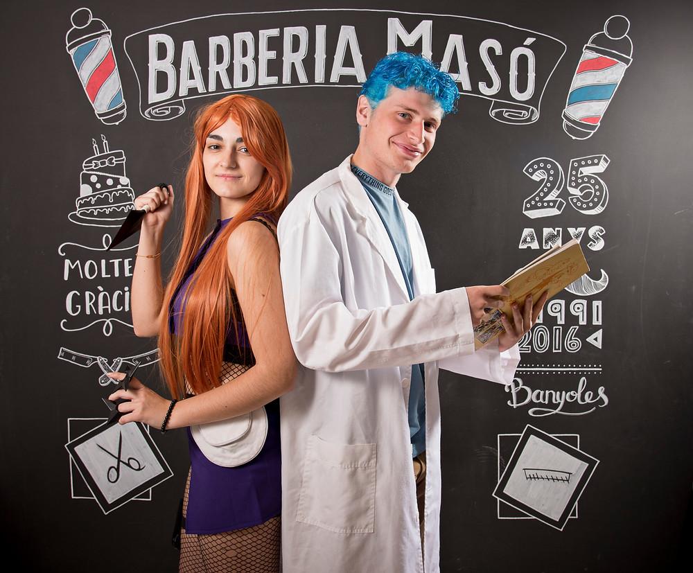 En el motiu del XXIII Salón del Manga de Barcelona, hem fet un color de Fantasía a la perruqueria Barberia Masó a Banyoles