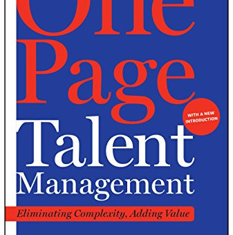 Book Brief - One Page Talent Management by Marc Effron & Miriam Ort