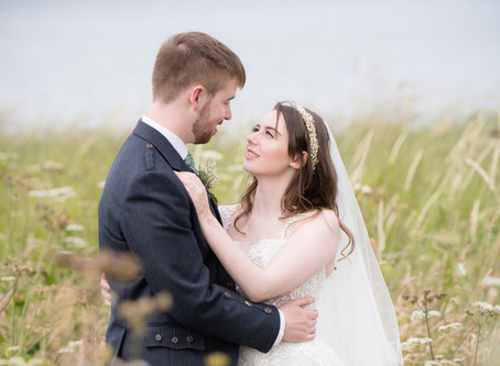 Eve and Ewan's magical beach wedding