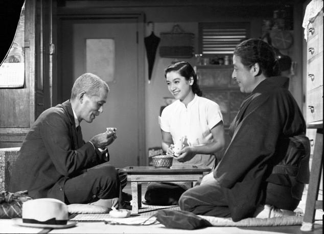 Chishū Ryū, Chieko Higashiyama, and Setsuko Hara in Tokyo Story