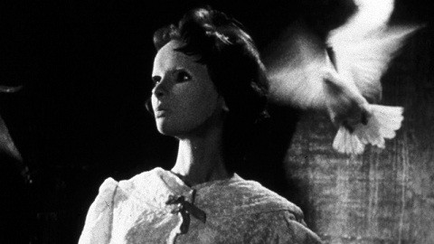 Édith Scob as Christiane Génessier in Eyes Without a Face