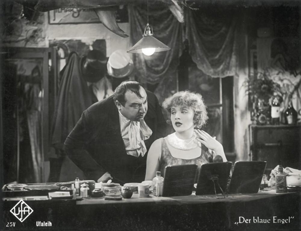 Kurt Gerron and Marlene Dietrich in The Blue Angel