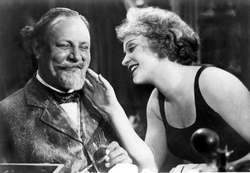 Emil Jannings and Marlene Dietrich in The Blue Angel