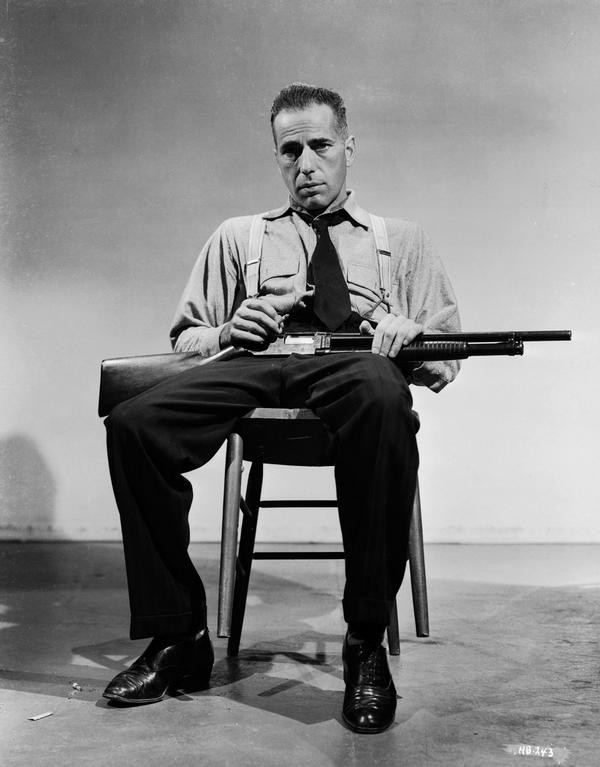Humphrey Bogart on the set of High Sierra