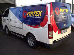 Vehicle branded with digitally printed vinyl