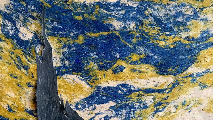 Starry Night Recycled Leather