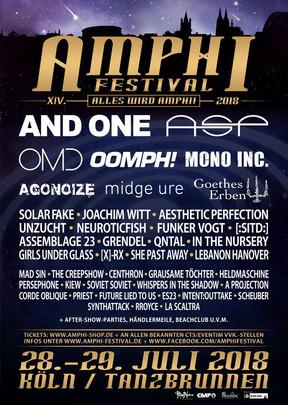 Amphi Festival - Tag II - Tanzbrunnen, Köln - 29.07.2018