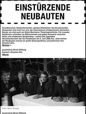 """Einstürzende Neubauten - """"Greatest Hits""""-Tour - Schauspielhaus, Bochum - 20.11.2018"""