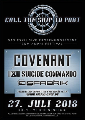 "Amphi Festival - ""Call The Ship To Port"" - Altstadtufer, Köln - 27.07.2018"