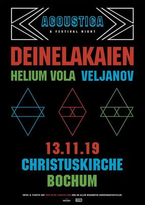 "Deine Lakaien - ""Acoustica - A Festival Night""-Tour - Christuskirche, Bochum - 13.11.2019"
