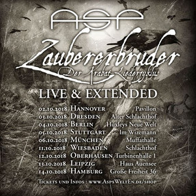 """ASP - """"Zaubererbruder - Der Krabat-Liederzyklus - Live & Extended""""-Tour - Turbinenhall"""