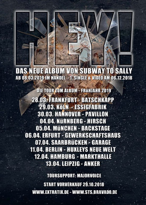 "Subway To Sally - ""HEY!""-Tour - Essigfabrik, Köln - 29.03.2019"