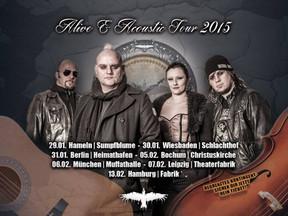 """Mono Inc. - """"Alive and Acoustic""""-Tour - Christuskirche, Bochum - 05.02.2015"""