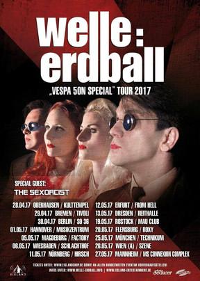 """Welle:Erdball - """"Vespa 50N Special""""-Tour - Kulttempel, Oberhausen - 28.04.2017"""