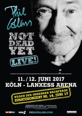 """Phil Collins - """"Not Dead Yet!""""-Tour - Lanxess Arena, Köln - 15.06.2017"""