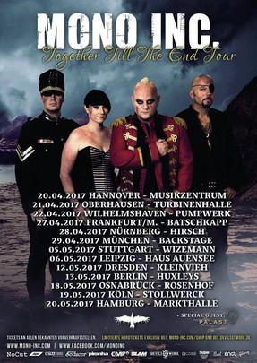 "Mono Inc. - ""Together Till The End""-Tour - Turbinenhalle, Oberhausen - 21.04.2017"