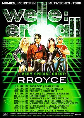 "Welle:Erdball - ""Mumien, Monstren, Mutationen""-Tour - Turbinenhalle, Oberhausen - 08.11.20"