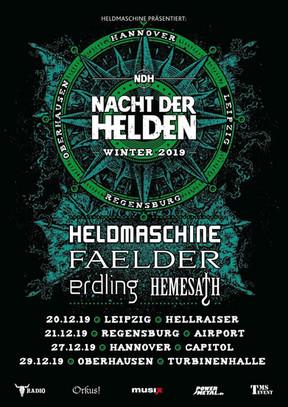 """Heldmaschine - """"Nacht der Helden"""" - Turbinenhalle II, Oberhausen - 29.12.2019"""