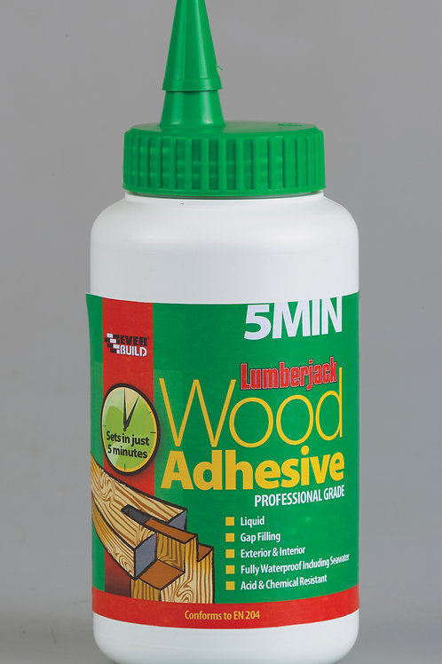 Everbuild Lumberjack 5 min Wood Adhesive 750ml
