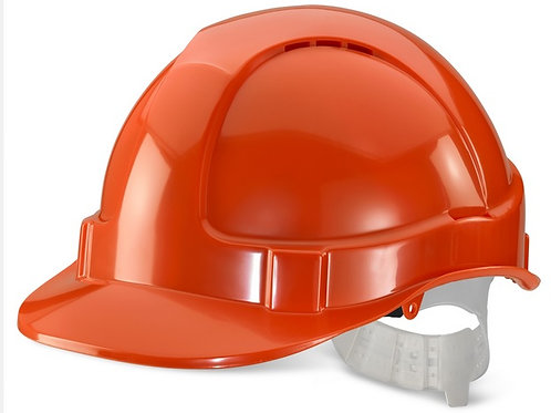 Orange  vented hard hat