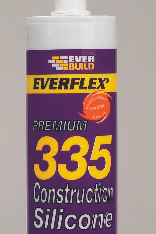 Everbuild. 335 Construction Silicone (Grey)