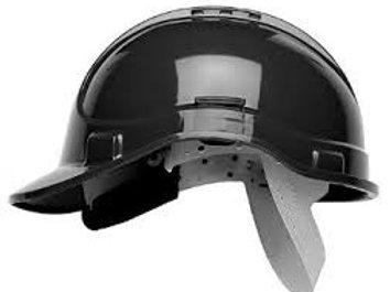 Black vented Helmet with sweatband