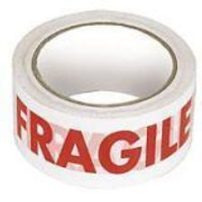 50mm x 66mtr Fragile Printed tape
