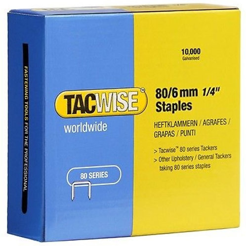 Staples (type 80) 80/6mm Tacwise 10,000