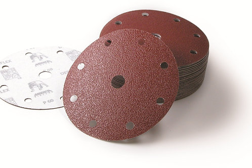 Mirka  Deflex 150mm 9 hole Grip discs 60 Grit